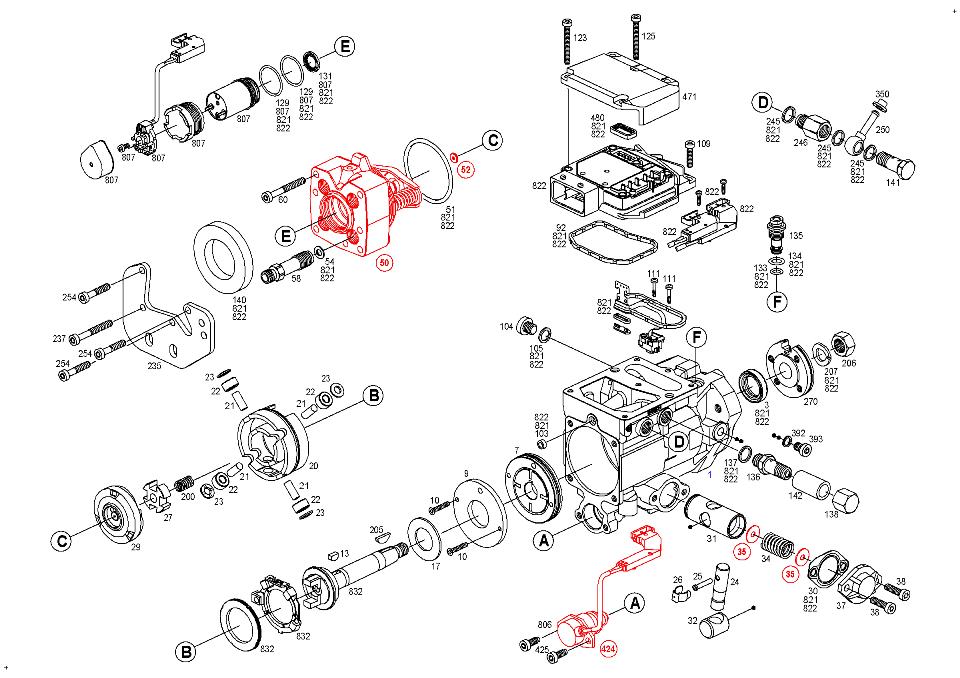 bosch ve injection pump parts