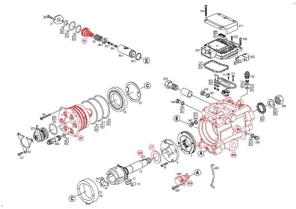 0 470 506 028  Fuel Distributor Injection Pump Bosch Vp44